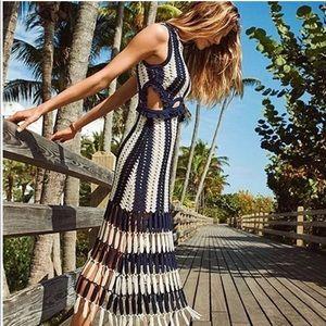 Dresses & Skirts - Sale! • Striped Cut-out Crochet Dress